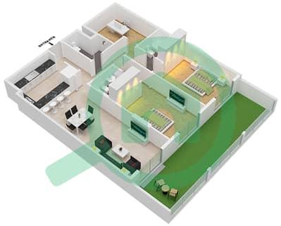 Botanica - 2 Beds Apartments type 5 Floor plan