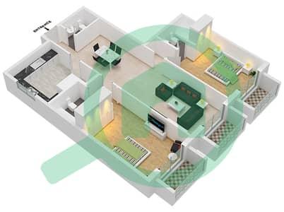 Botanica - 2 Beds Apartments type 7 Floor plan