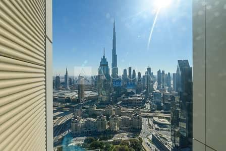 شقة 1 غرفة نوم للايجار في مركز دبي المالي العالمي، دبي - Biggest Layout with Full Burj Khalifa View