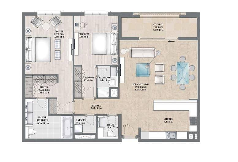 17 Exclusive | Two Bedrooms | Skyline Views