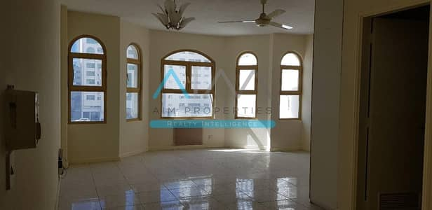 1 Bedroom Flat for Rent in Abu Shagara, Sharjah - Huge 1 Br apartment in K Building | King Faisal Street.
