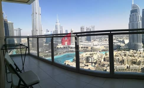 3 Bedroom Apartment for Rent in Downtown Dubai, Dubai - Luxury Furnished 3 BHK With Stunning View