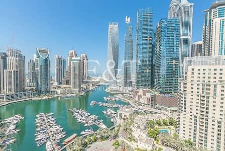 2 Bedroom Apartment for Rent in Dubai Marina, Dubai - Available|Full Marina View|High Floor|2+Study