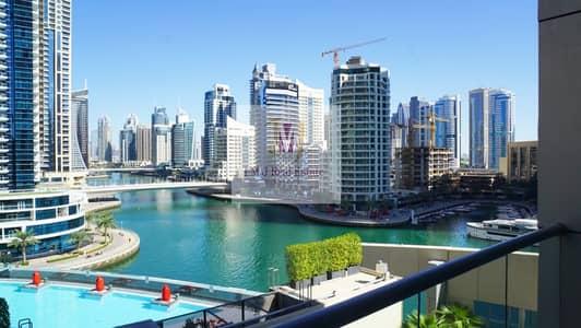 فلیٹ 1 غرفة نوم للايجار في دبي مارينا، دبي - Full Marina View