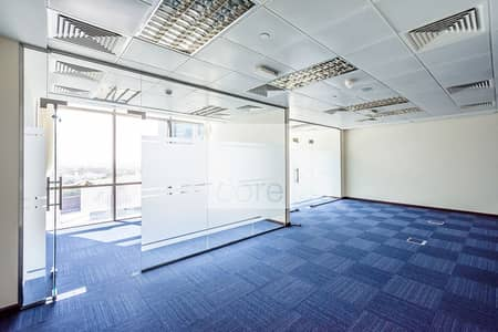 Office for Rent in DIFC, Dubai - Fitted and Partitioned Office | Low Floor