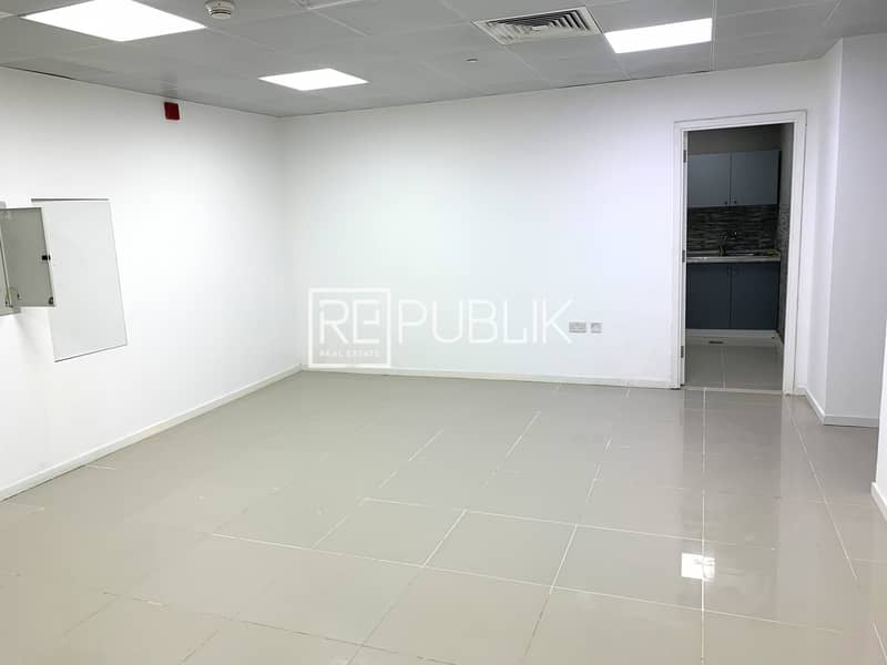 Vacant Fitted Office with Partition and Canal View