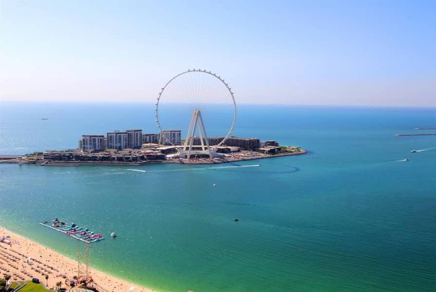 High floor | Sea view |3BR+M| Al Fattan | JBR