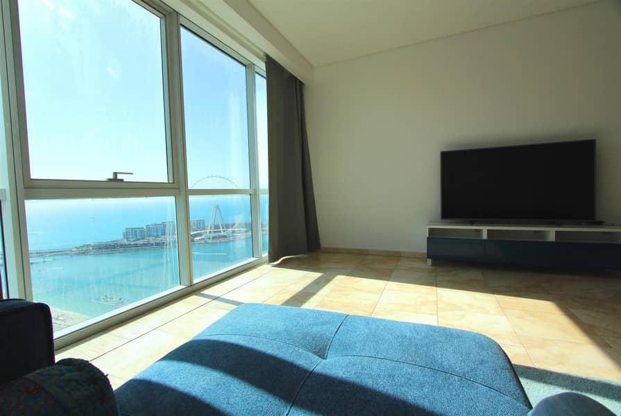 2 High floor | Sea view |3BR+M| Al Fattan | JBR