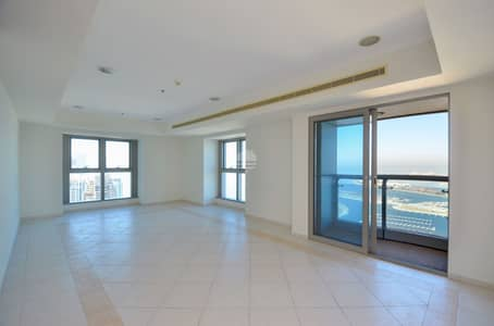 3 Bedroom Apartment for Rent in Dubai Marina, Dubai - Princess Tower 3BR Plus Maids Room Sea View Higher Floor