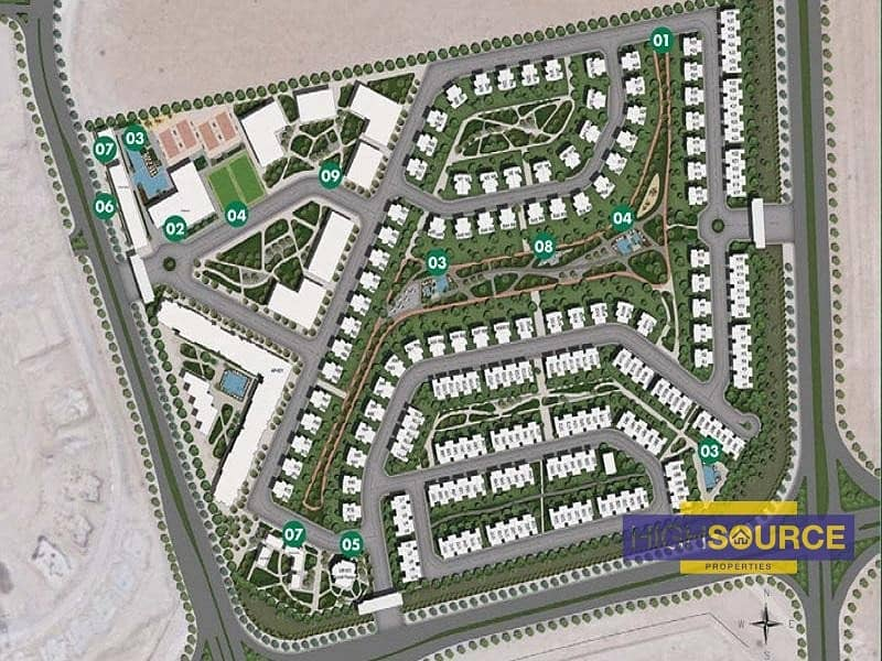 Large School Plot for Sale in Dubailand with Gated Community
