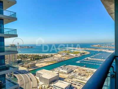 فلیٹ 1 غرفة نوم للايجار في دبي مارينا، دبي - Large one bed sea view great deal