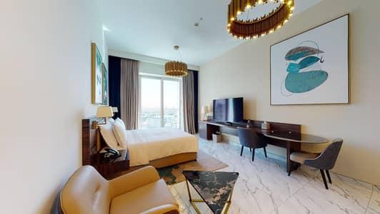 Studio for Rent in Dubai Media City, Dubai - Half commission I Furnished I Chiller free I Free maintenance