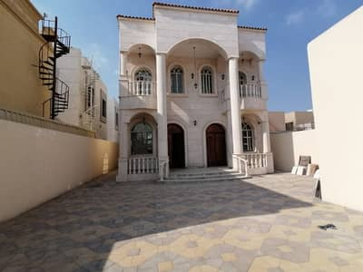 Villa for rent in Ajman, the first inhabitant, 7 bedrooms, master, personal finishing, a very special location, 100 thousand required 0562417250