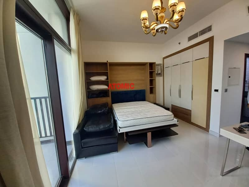 RIGHT NEAR TO METRO ! BRAND NEW SPACIOUSLY FURNISHED STUDIO WITH BALCONY  ! GLAMZ TOWER