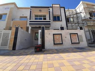 فیلا 5 غرف نوم للبيع في الياسمين، عجمان - فيلا جديدة راقية بتصميم مميز للبيع بسعر مغري علي الشارع الجار مباشرة