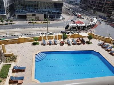 فلیٹ 1 غرفة نوم للبيع في جميرا بيتش ريزيدنس، دبي - OP| 1BHK low floor pool view Amwaj 4 JBR