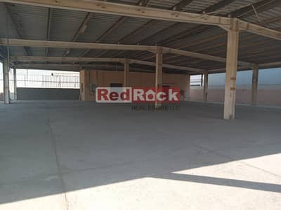 Plot for Rent in Al Quoz, Dubai - Commercial OpenLand+Shed 90Kw Power in Al Quoz