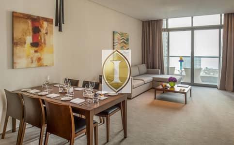 شقة فندقية 2 غرفة نوم للايجار في دبي مارينا، دبي - Marina View | 2 Balconies | Kitchenette
