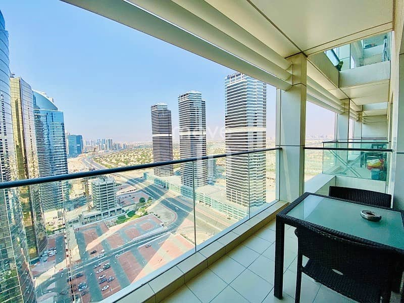 Superb  Furnished 2 Bed w Balcony High Floor