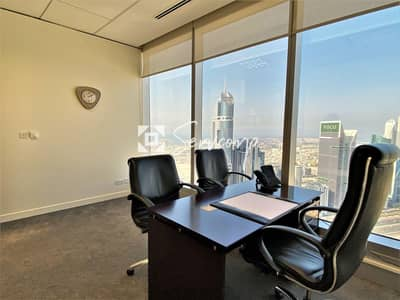مکتب  للايجار في شارع الشيخ زايد، دبي - Fully fitted private office in Emirates Towers - Impeccable amenities included
