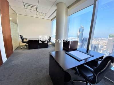 مکتب  للايجار في شارع الشيخ زايد، دبي - 5-Star Offices with spectacular views in Emirates Towers