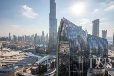 3 Bedroom Apartment for Rent in Downtown Dubai, Dubai - Burj Khalifa View   Bills Included   Furnished