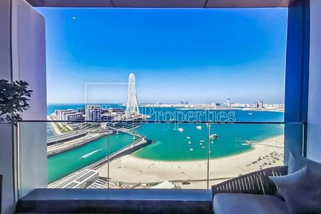 2 Bedroom Hotel Apartment for Sale in Jumeirah Beach Residence (JBR), Dubai - Full Sea View Serviced 2BR on High Floor