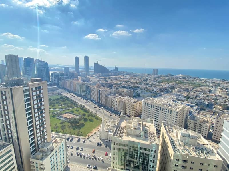 Sea View | A/C Free | Stunning 3BHK Apt | Maid's Room | Laundry Room | Parking | Just 65K | Al Majaz-3 , Sharjah.