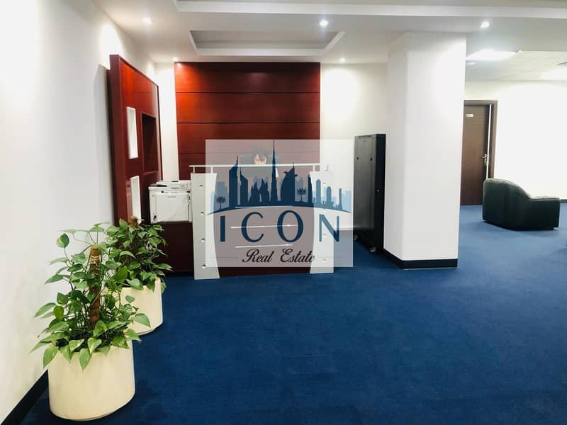 2 Furnished serviced offices at Al Gahoud