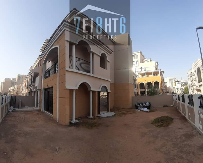 10 Amazing value: 4 b/r good quality semi-indep TYPE FORTUNATO villa + maids room + basement + large garden for rent in JVC