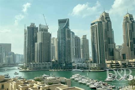 3 Bedroom Flat for Rent in Dubai Marina, Dubai - Full Marina View | Great Condition | Maids Room