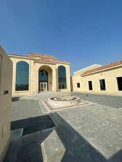 A 20,000-foot villa for rent in Ajman Al-Jarf with 3 annexes. The villa includes a mosque and a swimming pool 0562417250