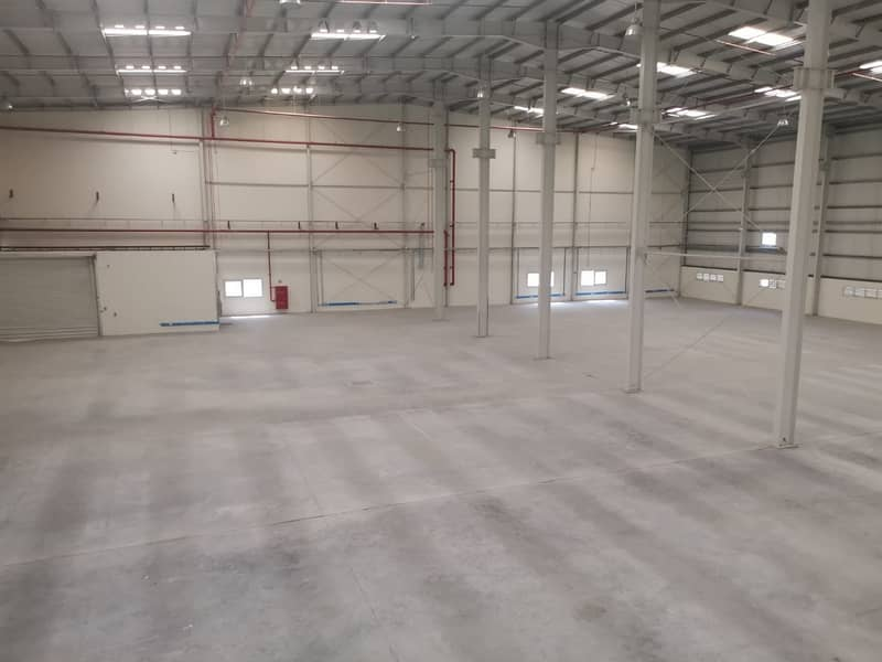 Multiple Sizes of logistics, commercial and industrial warehouses available for rent in different locations of Dubai.
