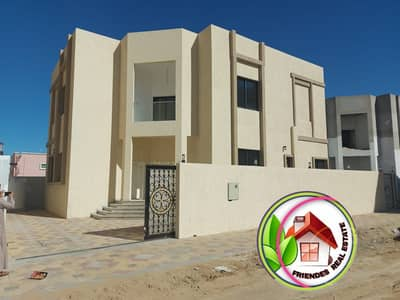 5 Bedroom Villa for Sale in Al Rawda, Ajman - Villa for sale, central air conditioning, European finishes, free ownership for all nationalities, and a very excellent location directly from the owner, with bank assistance, close to Khalifa Street