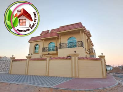 6 Bedroom Villa for Sale in Al Rawda, Ajman - Villa for sale, 6 rooms, corner, two streets, hotel design, directly from the owner, a privileged location next to the neighbor street and next to all services, next to a mosque