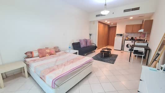 Studio for Rent in Dubai Production City (IMPZ), Dubai - Fully furnished  | 12 cheques |  With parking