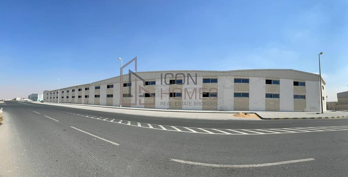 BRAND NEW FACTORY + 0N-SITE LABOUR CAMP TO LET in AL SAJAA
