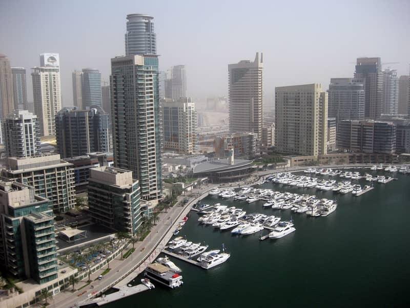 2 1 Bedroom with yacht View at Marina Quays Dubai Marina