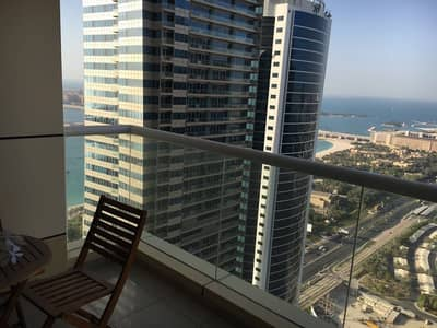 Specious apartment with partial sea view
