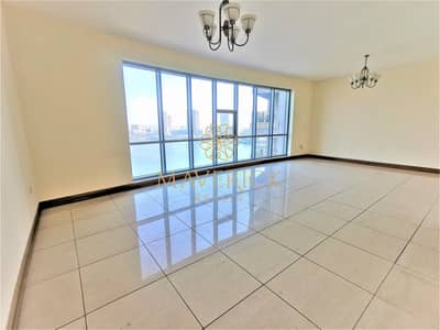 3 Bedroom Flat for Rent in Corniche Al Buhaira, Sharjah - Full Sea View | Huge 3BR+Maids/R | Gym+Pool | 6Chq