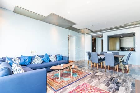 3 Bedroom Apartment for Rent in Dubai Marina, Dubai - Fendi Style   Furnished   Full Sea and Palm View