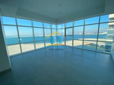 شقة 3 غرف نوم للايجار في شاطئ الراحة، أبوظبي - Head Turning Sea View Modern 3 Bbhk with Maids & Huge Balcony