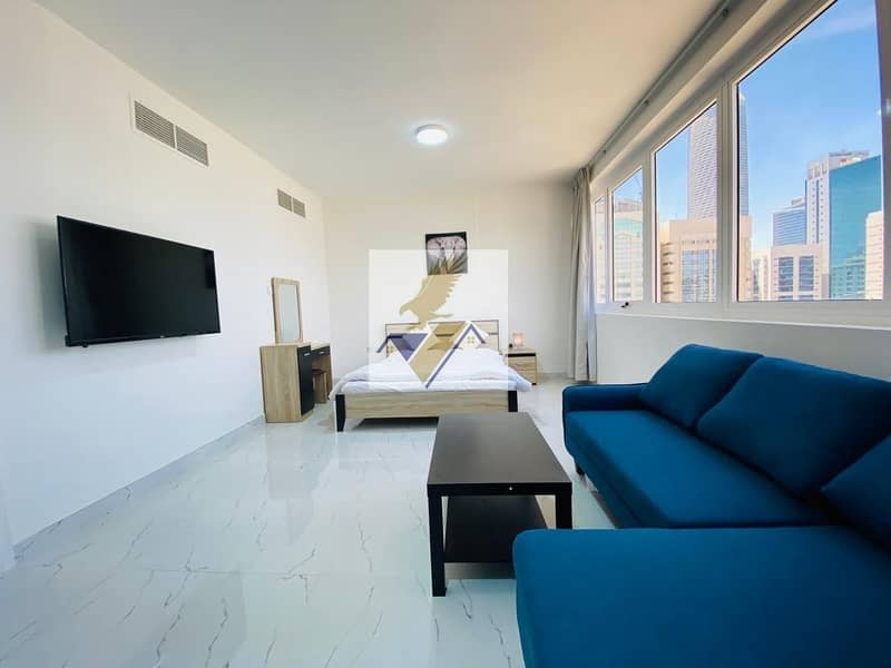 Furnished and Brand New Studio Apartment Including Electricity Water & Wifi Near Corniche 4500
