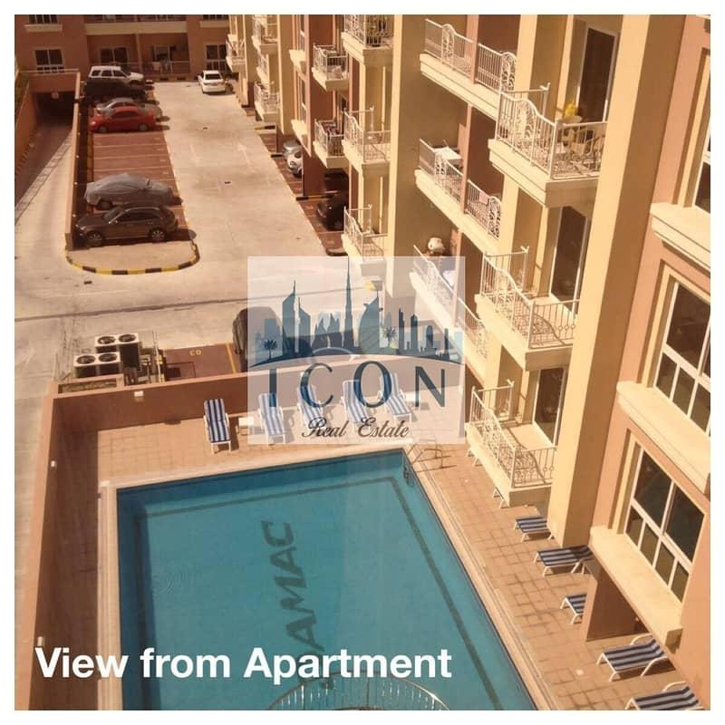 1 bhk modern unfurnished pool view
