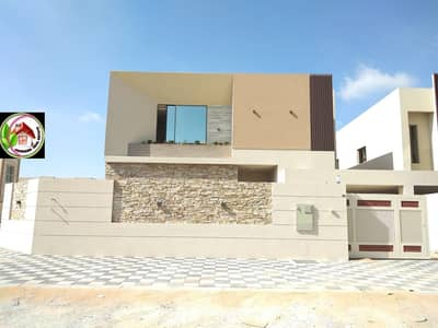 5 Bedroom Villa for Sale in Al Mowaihat, Ajman - One of the most luxurious villas in Ajman with a modern European design, spacious areas and a privileged location directly opposite Hajar Mosque, freehold for all nationalities
