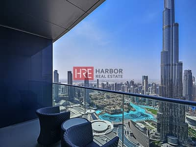 4 Bedroom Hotel Apartment for Rent in Downtown Dubai, Dubai - Burj Khalifa View | Hotel Apartment | Furnished