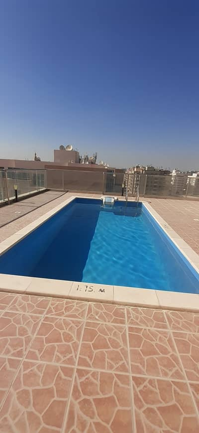 RENT ONLY 36K 2 BED/HALL WITH 3 BATH IN AL WARQAA1  FACILITIES IN BUILDING {CAN MAKE 6 CHQS}