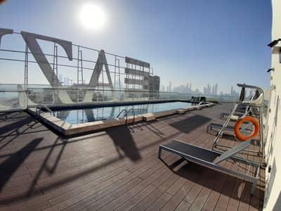Studio for Rent in Bur Dubai, Dubai - Full Furnishd Biger Studio with Terrace Chiller Free only 35k Al jaddaf