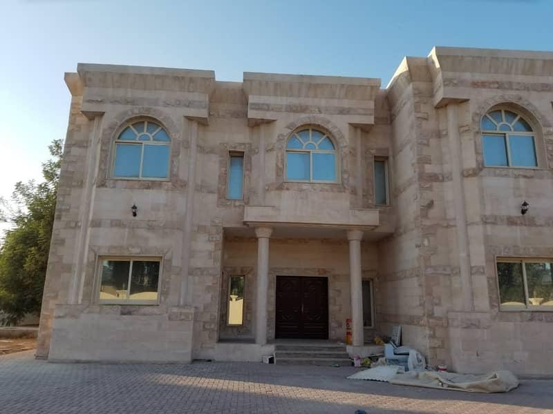 ***Its Huge Private Garden and big parking villa in Al Ramaqia***