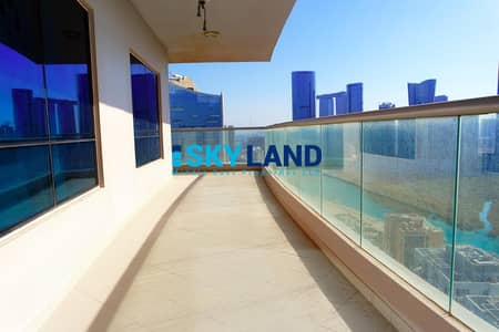 2 Bedroom Apartment for Rent in Al Reem Island, Abu Dhabi - VACANT Biggest 2BR with Sea View and Huge Balcony !